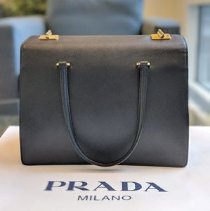 Prada Saffiano shopping bag black tote bn2710